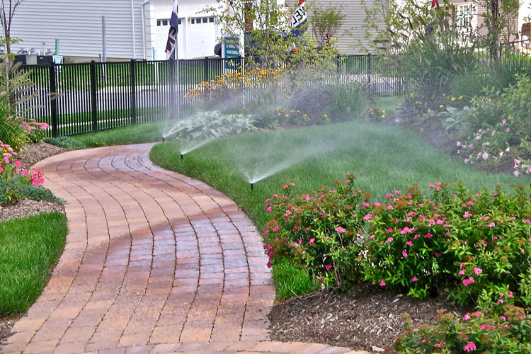 Irrigation services installation blow outs repairs for Home landscaping services